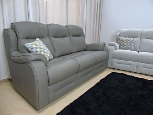 Boston Leather 3 Seater Sofa (como olive)